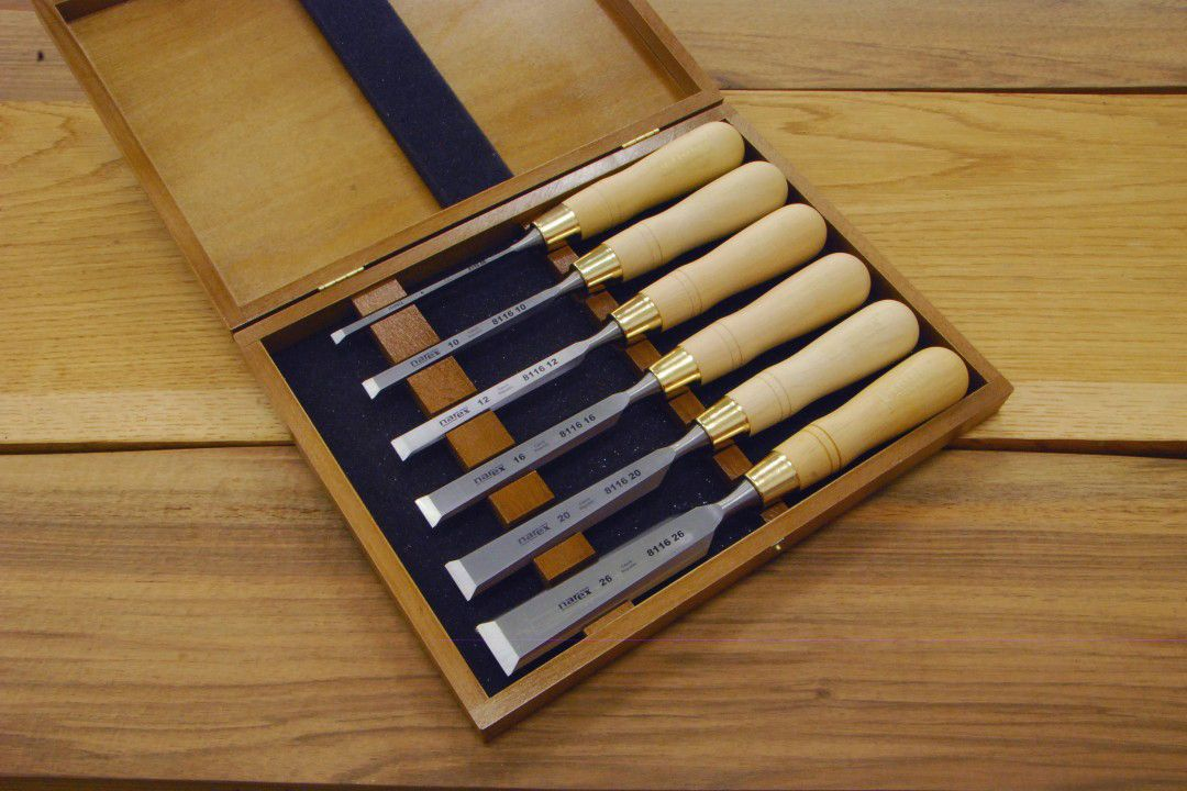 Narex Chisels - 8116 Cabinetmakers Chisel Boxed Set (natural)
