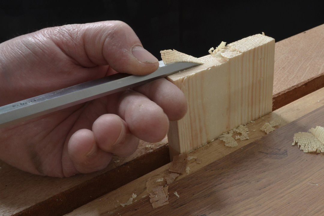 Narex Chisels - 8132 Paring Chisel in use