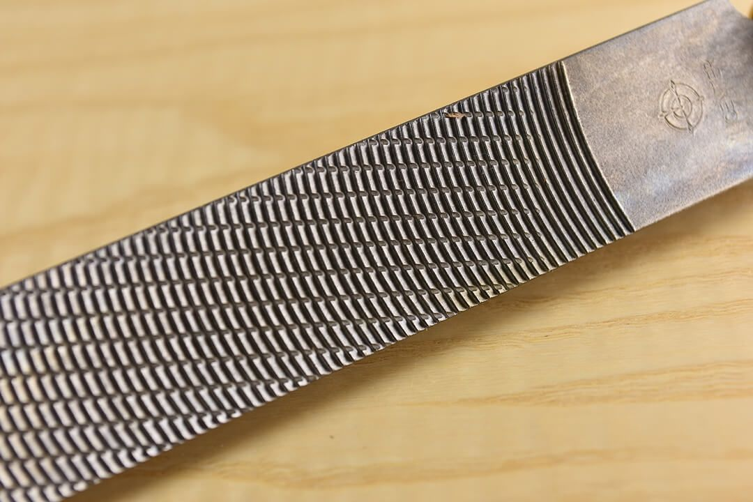 Iwasaki Carving File Flat IW-200CPF Fine 200mm close up
