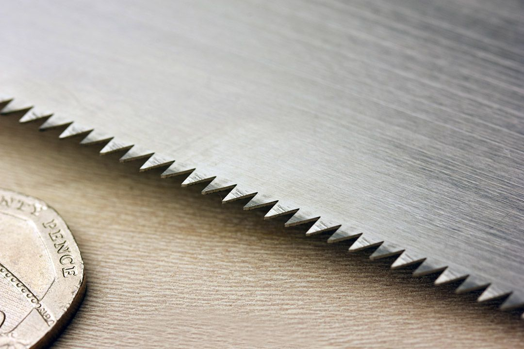 Traditional Mini Ryobo Wooden Handle Saw Close Up 2