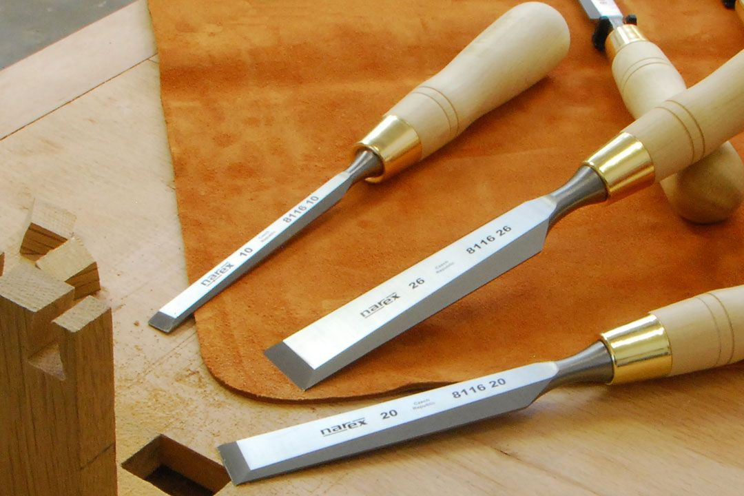 Narex 8116 cabinetmakers chisels natural