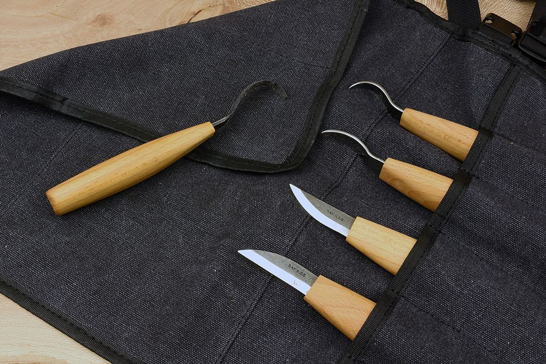 Ray Iles Carving Knives set of 5 (Right) with Free Tool Roll