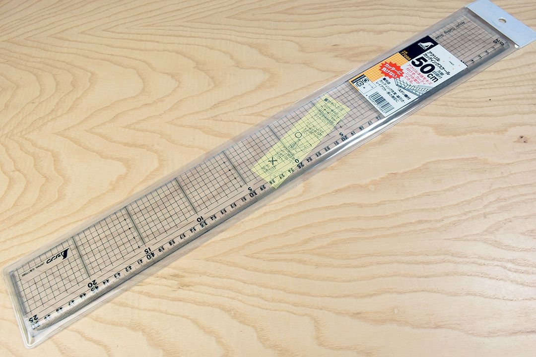 Shinwa Acrylic Cutting Rule with Stainless Steel Edge 500mm packaging