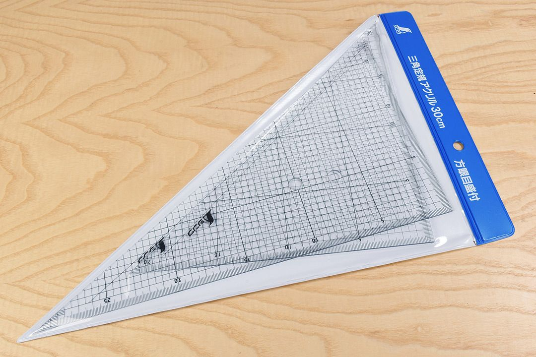 Shinwa Acrylic Triangle Grid Scale 300mm Set of 2 packaging