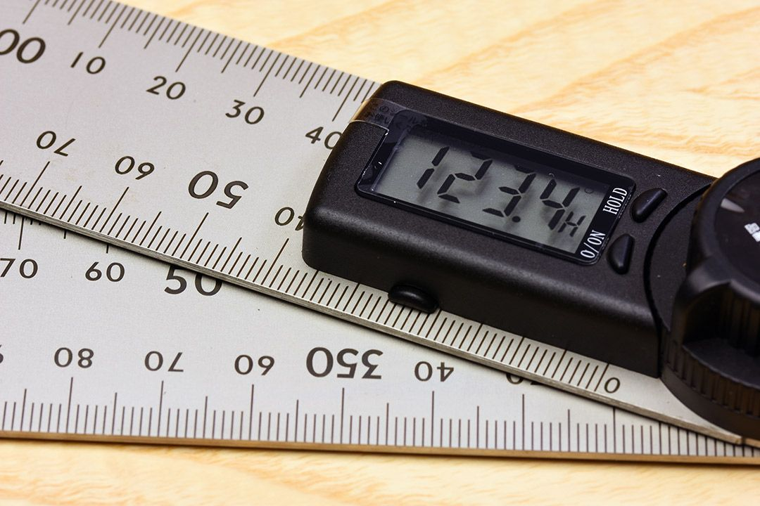Shinwa Digital Protractor with Hold Function 300mm readout