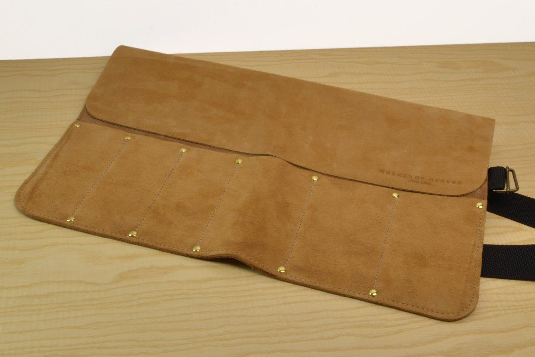 Handmade Suede Leather Tool Roll 6 Pocket