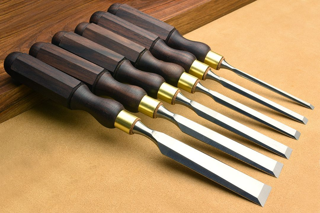 Rosewood Cabinetmakers Chisels set of 6