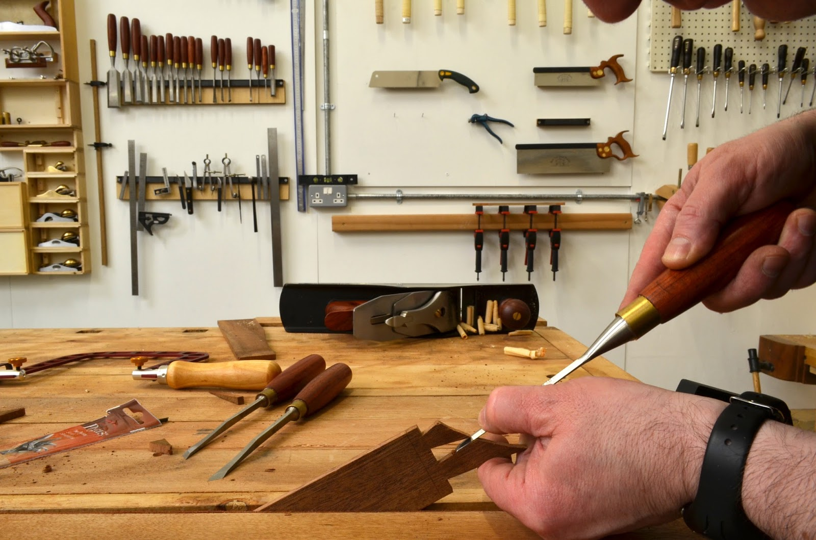 Cleaning up the dovetail waste